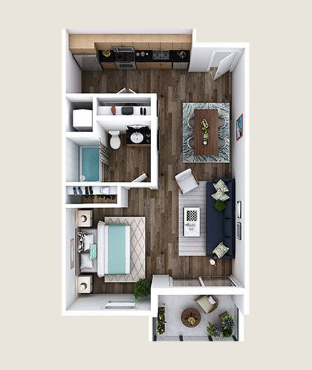 L-ZM floor plans at L+O apartments in North Hollywood