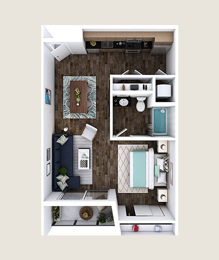 L-ZO floor plans at L+O apartments in North Hollywood