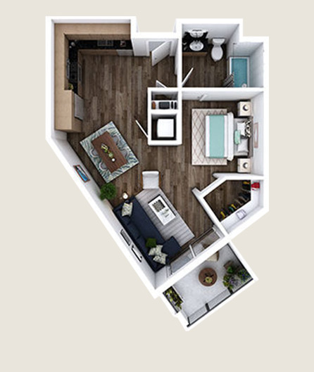 L-ZN floor plans at L+O apartments in North Hollywood