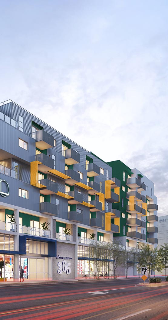 whole food market in L+O apartments in North Hollywood